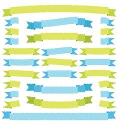 green and blue ribbons vector image