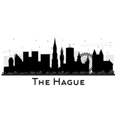 Hague netherlands city skyline silhouette vector
