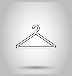 hanger icon in line style on isolated background vector image