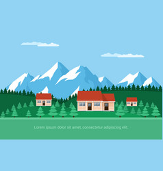 Houses in forest vector