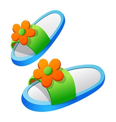 Icon slipper vector