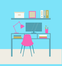 interior cabinet workplace vector image