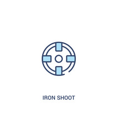 Iron shoot concept 2 colored icon simple line vector