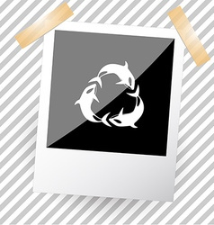 killer whale as recycling symbol vector image