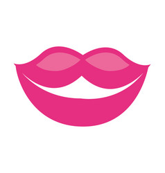 lips mouth female vector image