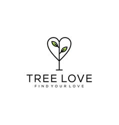 love tree logo vector image