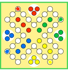 Ludo board game vector