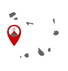 Map cape verde islands with volcano locator vector