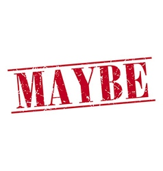 Maybe red grunge vintage stamp isolated on white vector