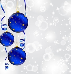 Modern Christmas baubles background vector