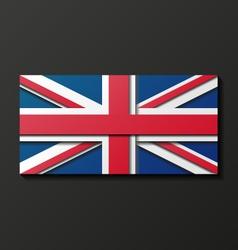 Modern style Great Britain flag vector