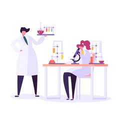 Pharmaceutic laboratory research concept scientist vector