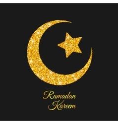 Ramadan kareem moon islam symbol vector