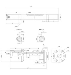 Rod displacement pump vector
