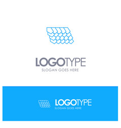 Rotile top construction blue outline logo with vector