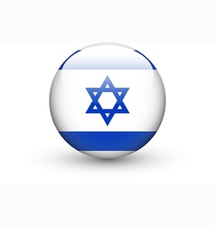 Round icon with national flag of Israel vector