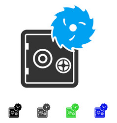 Safe hacking theft flat icon vector