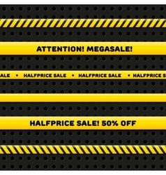 Seamless caution tapes for megasale vector