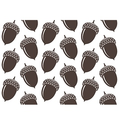 Seamless pattern Acorn vector image