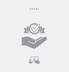 Service offer - check best solution - minimal icon vector