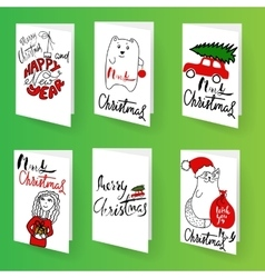 Set of christmas brochures templates bright vector