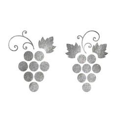 Set of grapes logo vector