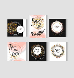 set perfect wedding abstract templates vector image