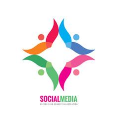 social media - logo template concept vector image