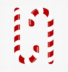 sweet candy cane decoration for the new year vector image