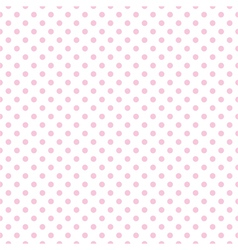 Tile pattern with pink polka dots on white vector