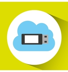 Usb cloud technology connection design vector