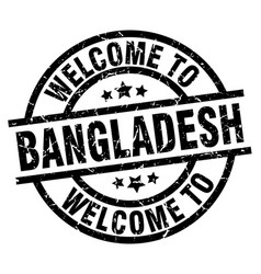 Welcome to bangladesh black stamp vector