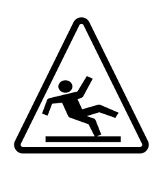 Wet Floor Warning Sign vector image