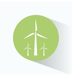 Wind energy turbines clean vector
