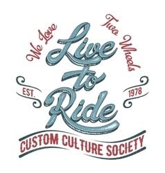 Biker society logo vector image vector image