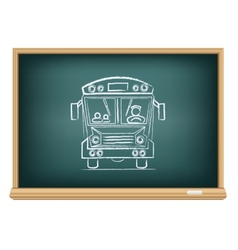 board school bus vector image vector image
