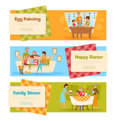 easter holiday banners set vector image vector image