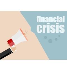 financial crisis Megaphone Flat design vector image vector image