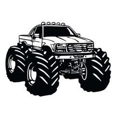 Monster Truck Cartoon vector image