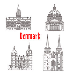 architecture denmark landmark buildings vector image vector image