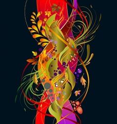 autumn elements vector image vector image