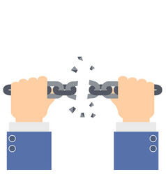 businessman hands tearing vector image