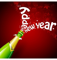Happy New Year with Champagne vector image