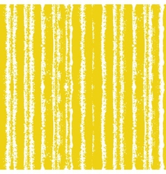 Striped pattern with brushed lines in yellow vector image vector image