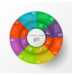 Abstract circle infographic template vector image