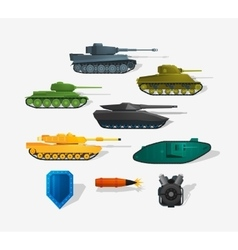 Battle tanks vector image