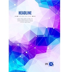 Business brochure abstract polygonal backgrounds vector