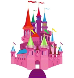 Fairy-tale Pink Castle vector image vector image