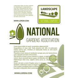 Garden landscape company poster vector