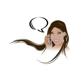 girl phone vector image vector image